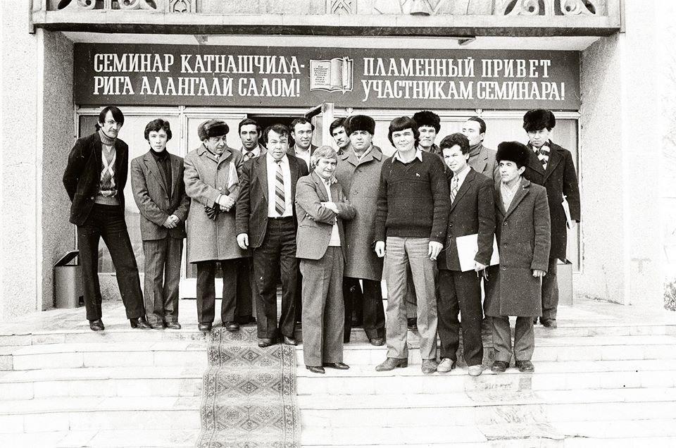 Gruppenbild usbekischer Oppositioneller, Taschkent 1987