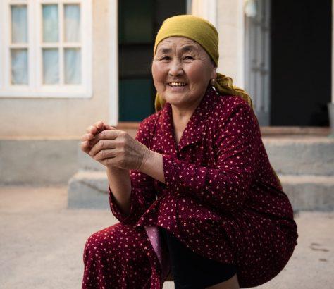 Ala-Buka Kirgistan Bauernhof Portrait