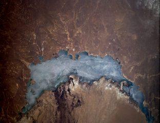 Satellitenaufnahme des Balqash