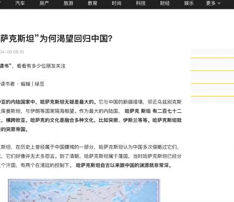 Screenshot des chinesischen Artikels