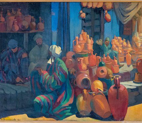 Nikolaj Grigorijew: Die Mühelen von Samarkand (aus der Sammlung des Kunstmuseum Nukus)