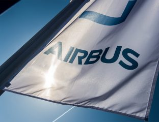Flagge mit Airbus-Logo