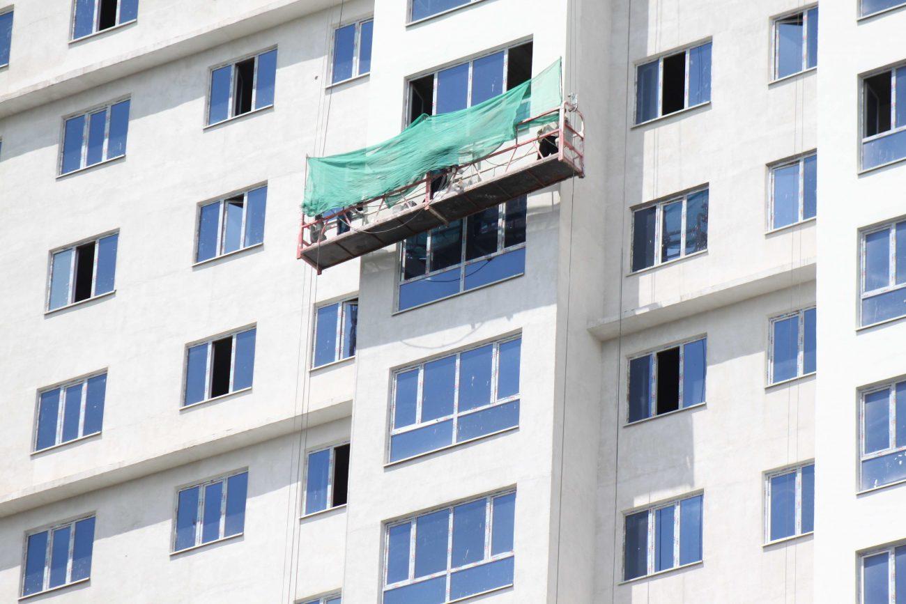 Baustellen im neuen Dushanbe
