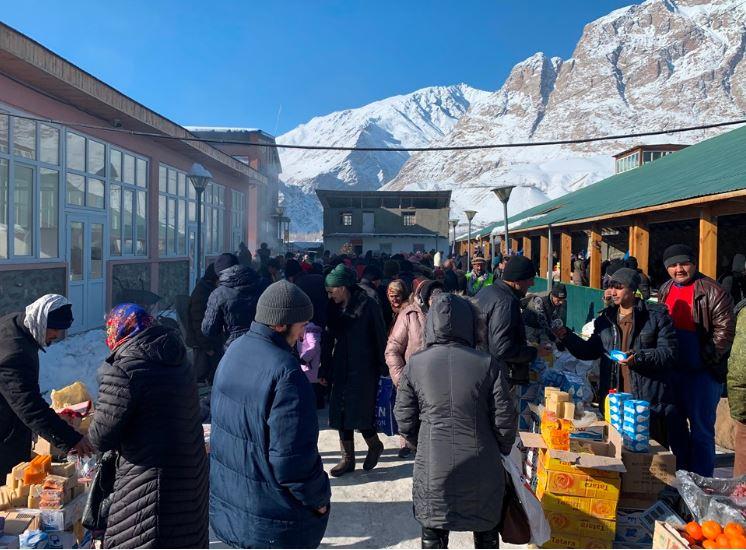 Leute auf dem Markt