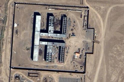 ine Luftaufnahme von GoogleMaps zeigt das Gefängnis Owadan-Depe von oben