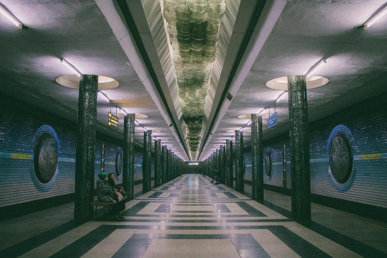 "In der Metro-Station ""Kosmonavtlar"""