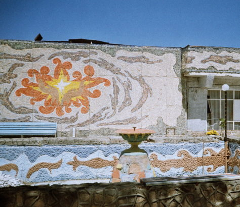 Kirgistan Issikköl Architektur Mosaik Sowjetunion