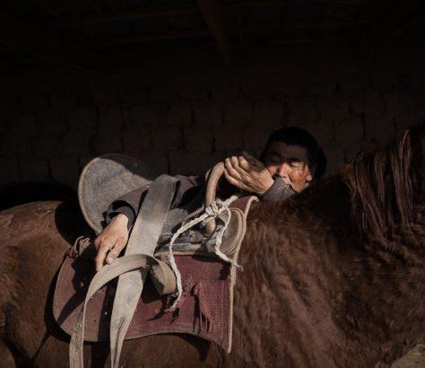 Kök-Boru Kirgistan Pferd Sattel