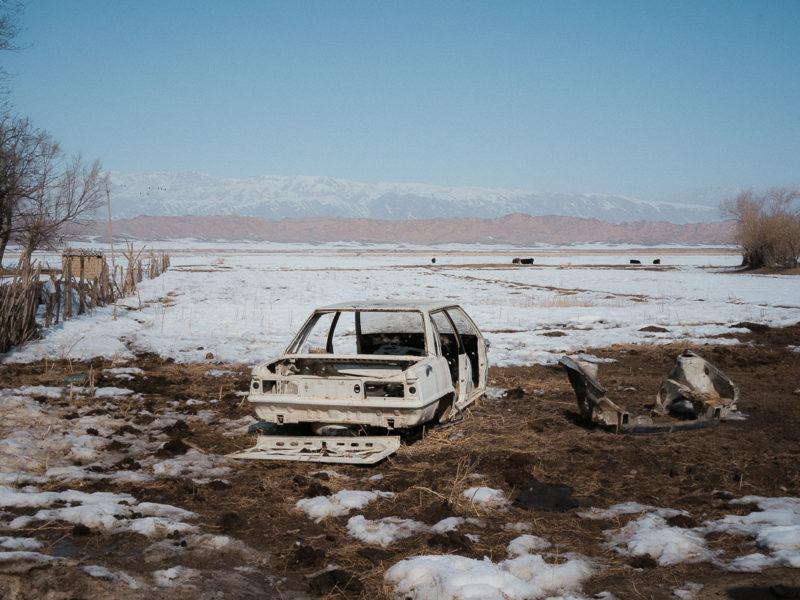 Ak-Talaa Kirgistan Auto Schnee
