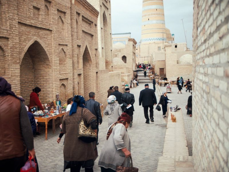 Tourismus Xiva Usbekistan Ichan-Qal'a