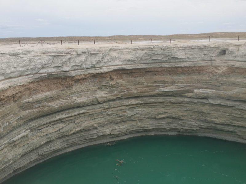 Turkmenistan Derweze Wasserkrater Gas