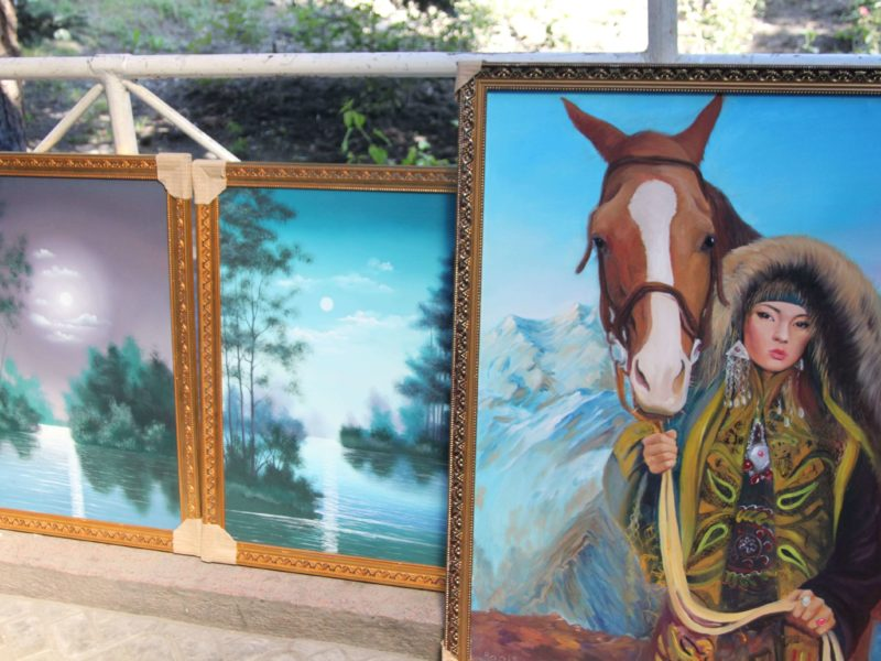 Bild des Tages Gemälde Kasachstan Almaty