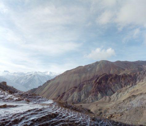 Tal Serafshan Dorf Berge