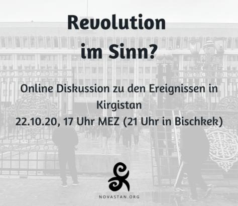 Revolution im Sinn Online Diskussion