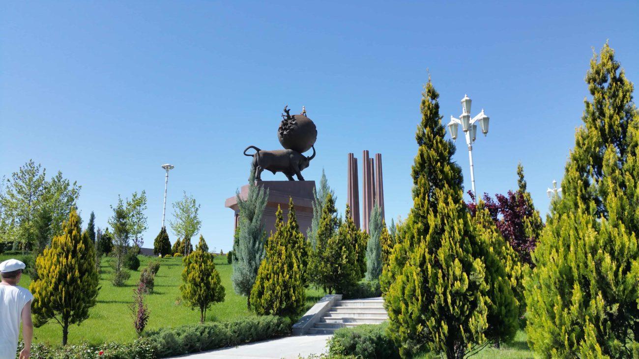 turkmenistan Aschgabat Gedenkkomplex Erdbeben