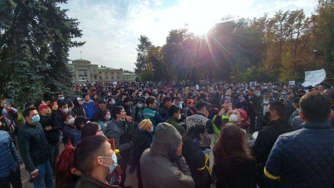 Demonstration Bischkek Organisiertes Verbrechen