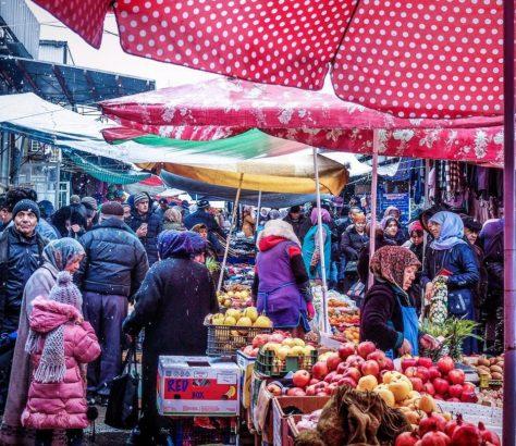 Tadschikistan Isfara schnee basar