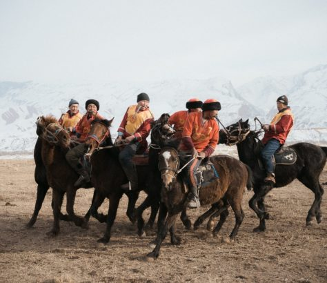 Bild des Tages Kirgistan Kok Boru Nomaden