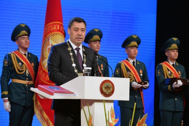 Sadyr Dschaparow Vereidigung Präsident