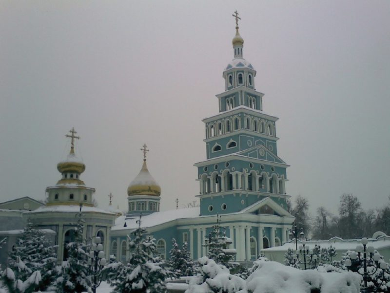 Usbekistan Tachkent russisch orthodoxe winter Kathedrale