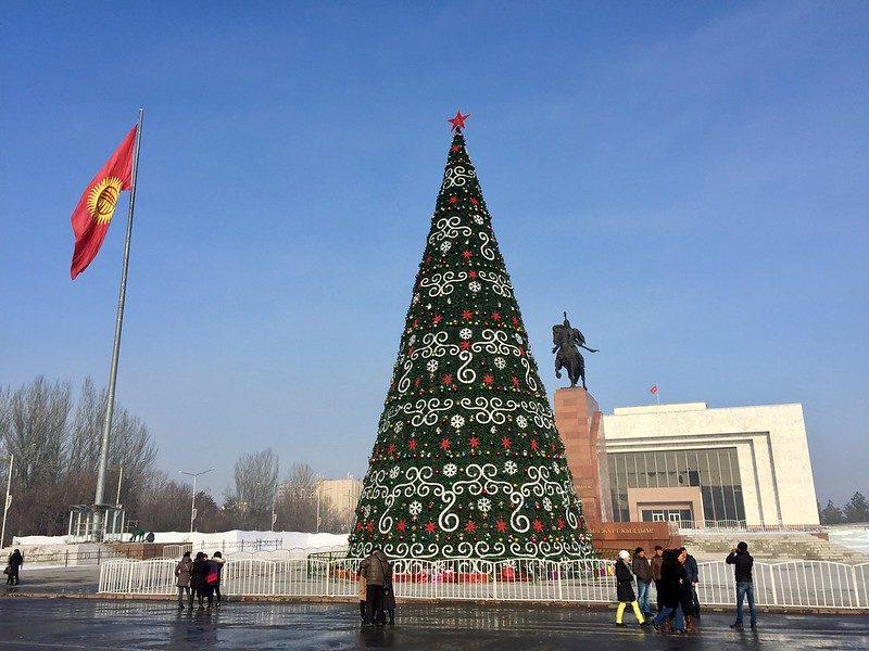 Kirgistan bischkek ala too platz Neujahr