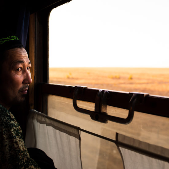Bild des Tages Antoine Béguier Kasachstan Zug Steppe