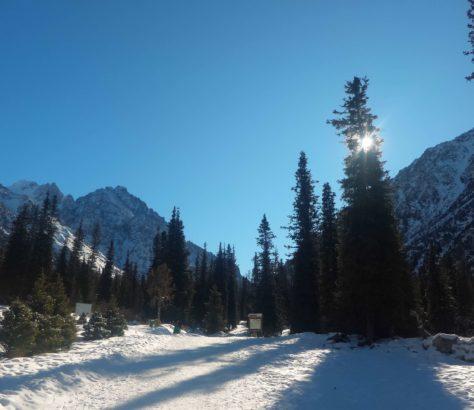 Schnee Ala Archa Nationalpark