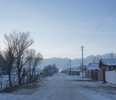 Bild des Tages Kirgistan Irina Unruh Dorf Winter