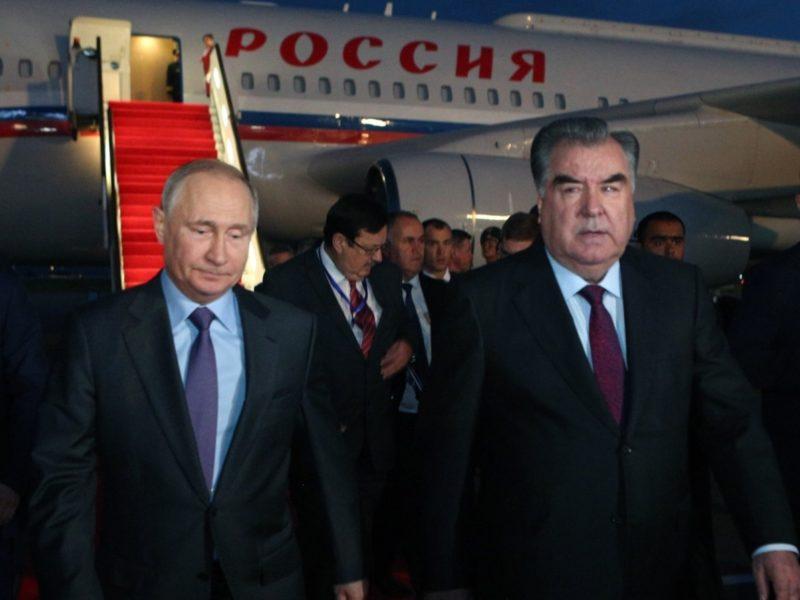Emomalij Rahmon und Vladimir Putin