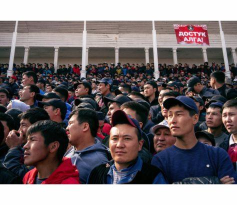 Kirgisistan Bischkek Wettbewer Kok-Böru Nawruz-Feierlichkeiten