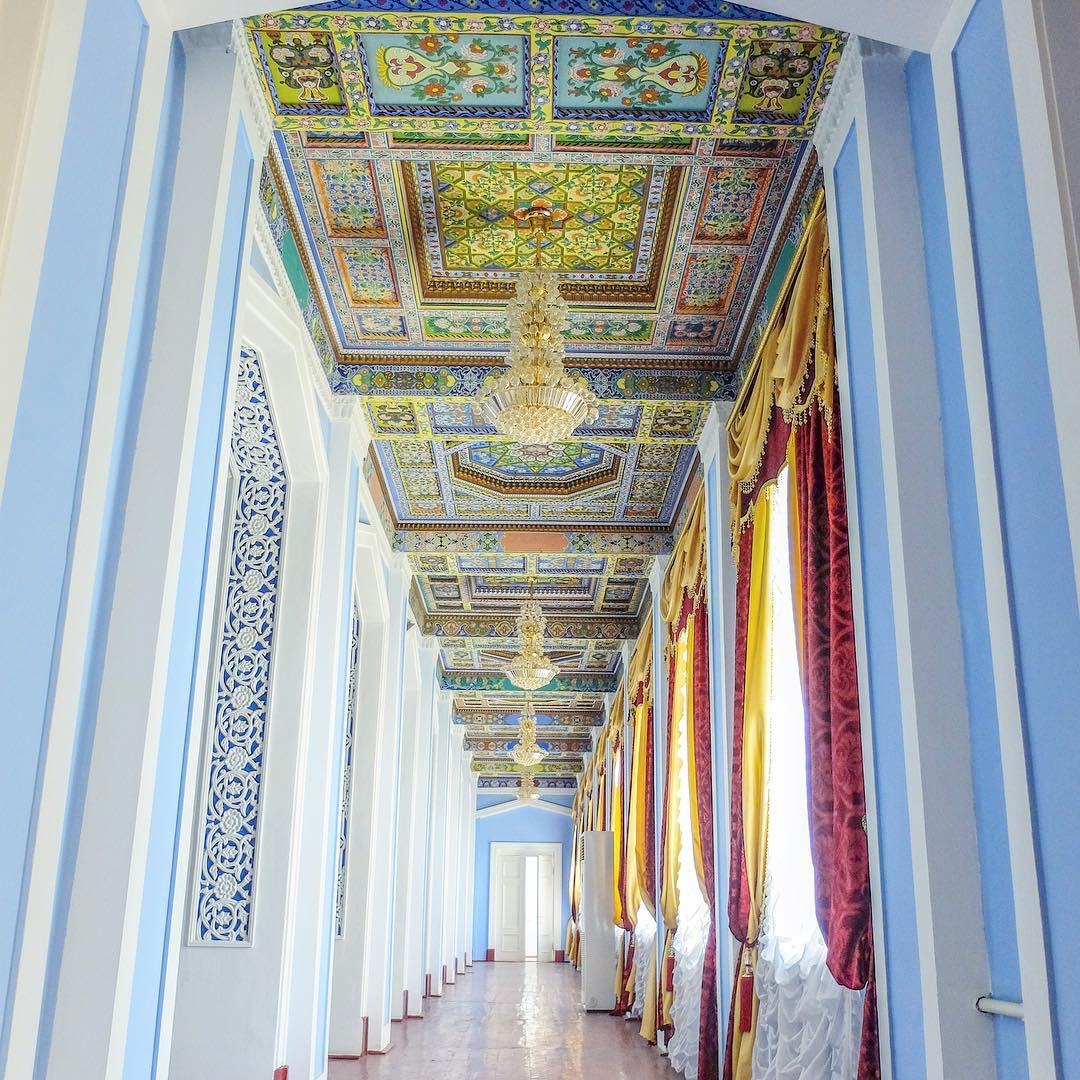 Traditionelles Gemälde tadschikistan khujand palast