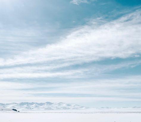 Kirgistan Schnee Eis Bergen Wolken