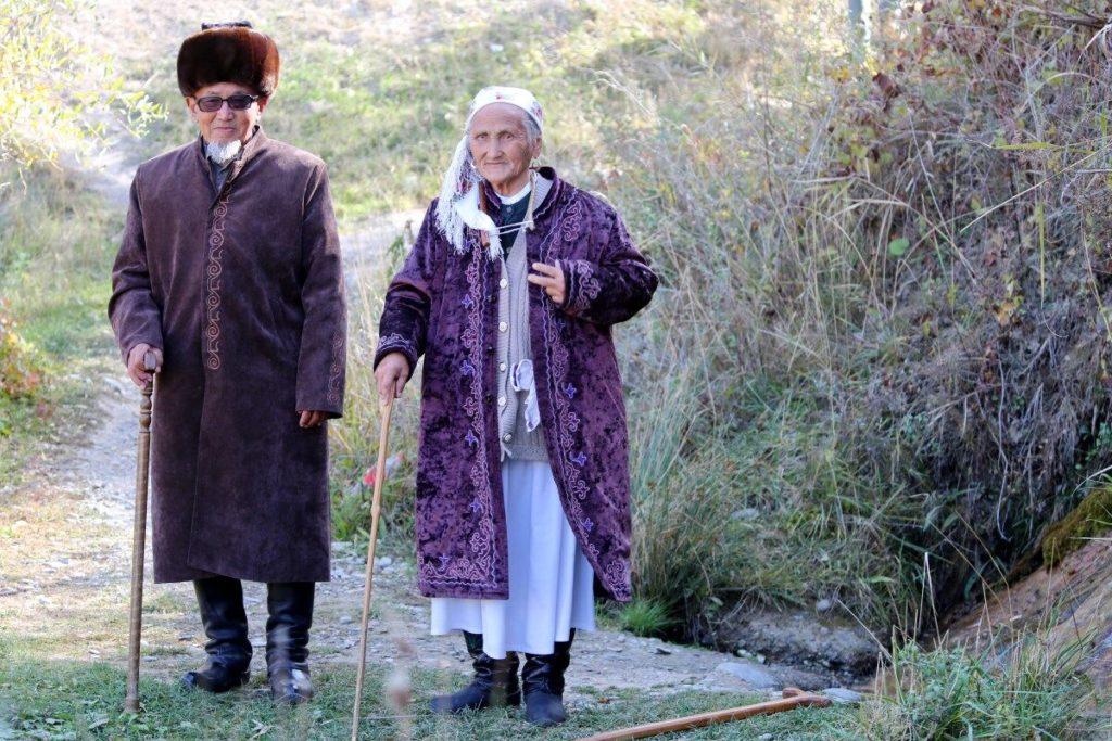 Saken Dschumakeewoj und ihr Mann