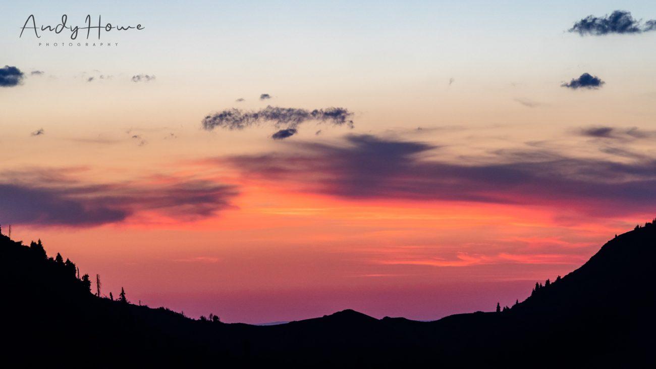 shymbulak kasachstan almaty Sonnenuntergang