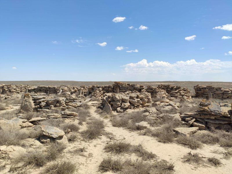 Kasachische Steingräber Friedhof Ustjurt-Plateau Usbekistan
