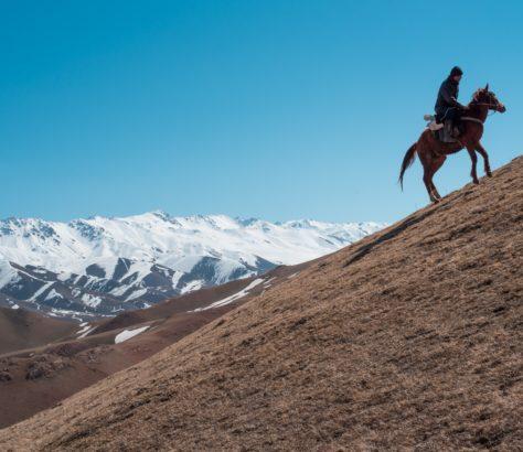 Kirgistan Antoine Béguier Berge Herden Steppe