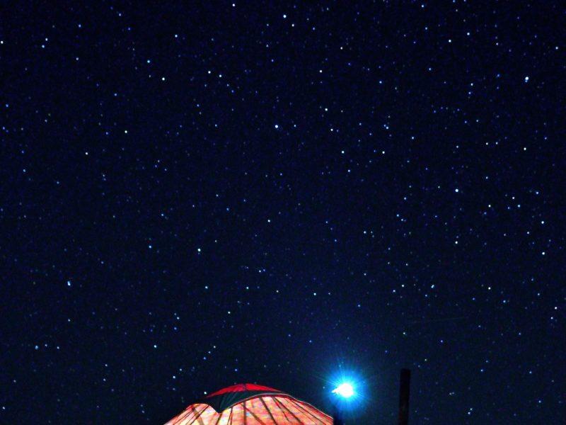 Bild des Tages Kirgistan Son-Köl Lake Nacht Licht