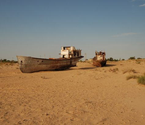 Wracks Schiffe Usbekistan