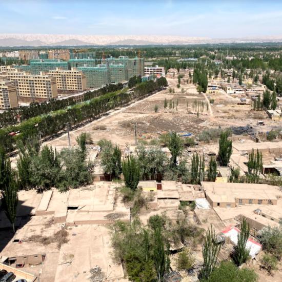 Kashgar Blick aus dem Himmel China Xinjiang