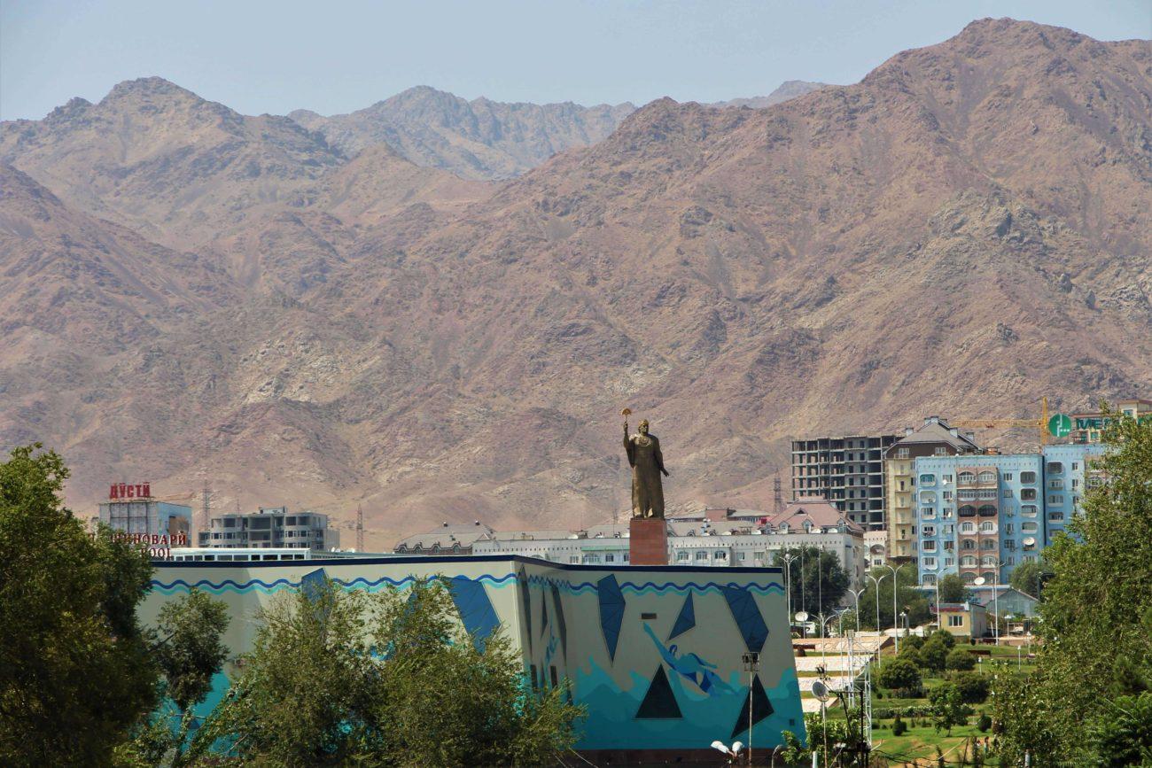 Berge, Tadschikistan, Statue, Somoni, Khudjand