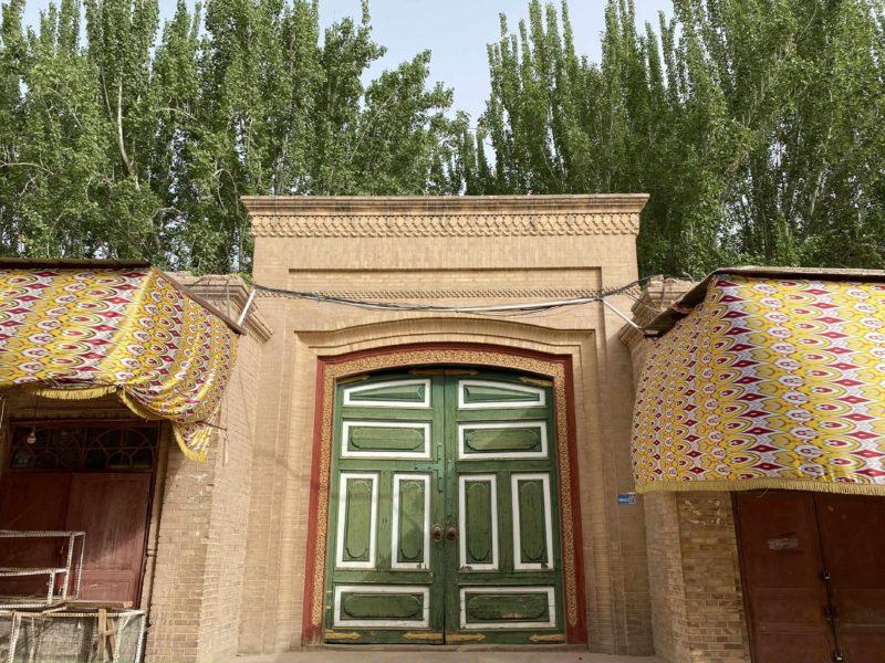 Bunte Tür china xinjiang kashgar moschee