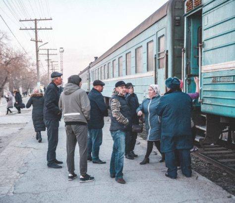 Mangystau Kasachstan Aktau Zug Bahnhof