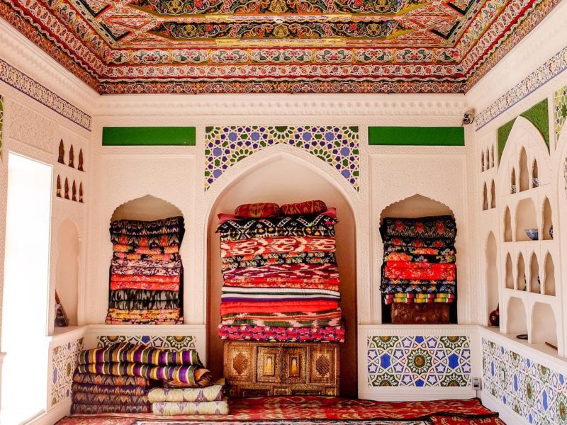 Teppichboden, Chudschand, Tadschikistan, Haus, Bild des Tages