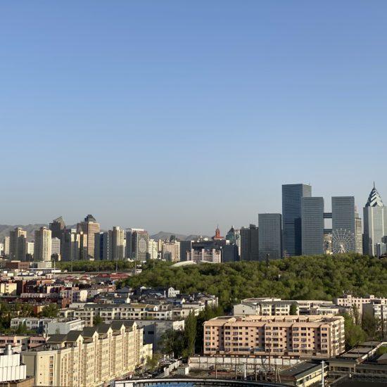 chinesischen Provinz Xinjiang skyline urumqi