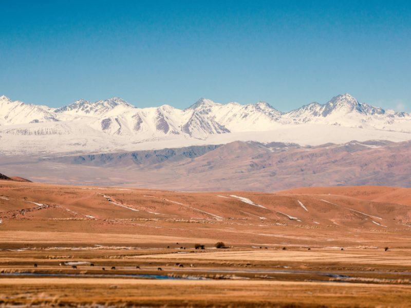 Kirgistan, Berg, Tschüi-Tal, Straße, Bild des Tages