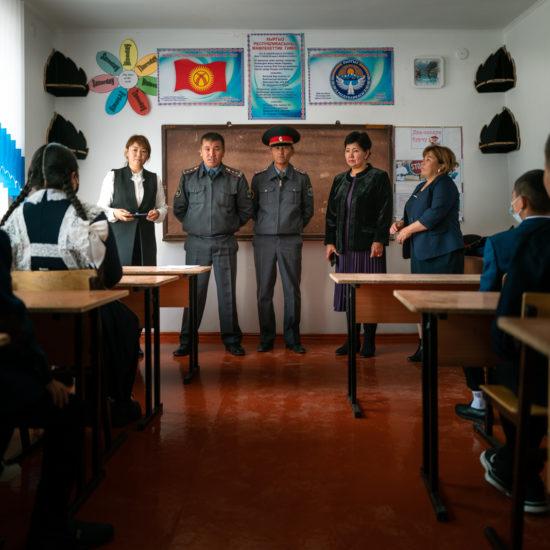 Patriotismus schule polizei Kirgisistan