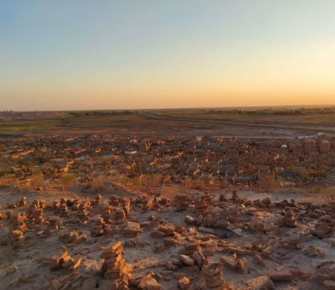 Usbekistan, Grenze, Friedhof, Bild des tages, Sonnenuntergang