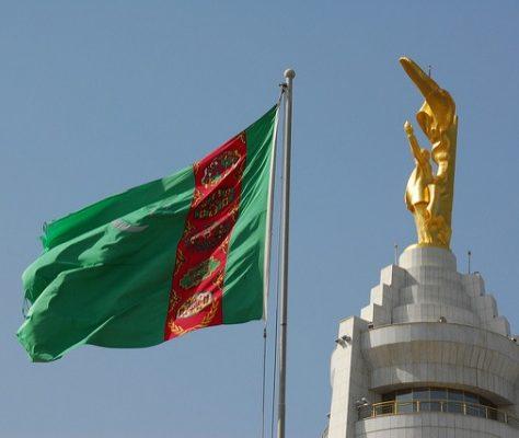 Turkmenistan Flagge