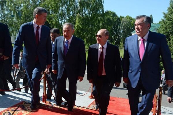 Atambajew, Nasarbajew, Putin, Rahmon