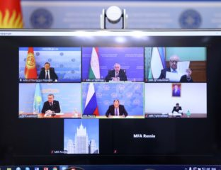 Video meeting of foreign ministers of Central Asia + Russia